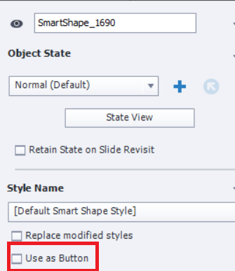 "Adobe Captivate 2019: SmartShape, opzione ""use as button"""